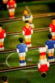 Vintage Foosball, Table Soccer or Football Kicker Game — Stock Photo