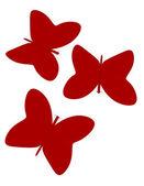 3d Render of Abstract Paper Butterflies — Stock Photo
