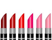 3d Render of Shades of Red Lipstick — Stock Photo