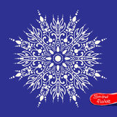 Beauty snowflake. vector illustration — Stock Vector