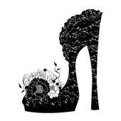 Logo shoe store, shop, fashion collection — Stock Vector