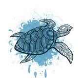 程式化的龟. — 图库矢量图片