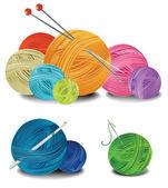 Balls of wool — Stock Vector