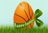 Basketball Easter egg — Stock Vector