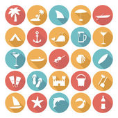 Colorful Flat Icon Designs - Summer Holiday — Stockvector