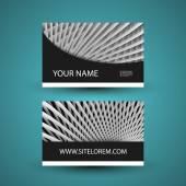 Tarjeta de negocios o regalo colorida con líneas del patrón — Vector de stock