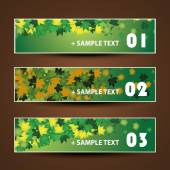 Banner or Header Design - Autumn Leaves — Stockvector