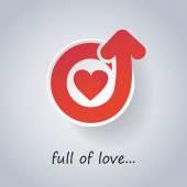 Heart Icon Design - Full of Love — Stock Vector