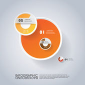 Circle Infographic Design with Pie Chart — Stock Vector