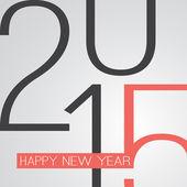 Retro New Year Card - 2015 — Stock Vector