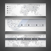 Web Design Elements - Header Design - Networks — Stockvector