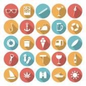 Colorful Flat Icon Designs - Summer — Stockvector