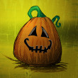 Halloween Background Template - Funny Smiling Pumpkin — Stock Vector #53042317