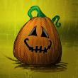 Halloween Background Template - Funny Smiling Pumpkin — Stock Vector