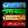 Set of Colorful Halloween Cartoon Banners — Vecteur #53042327