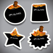 Halloween Tags, Labels or Speech Bubbles Collection — Vetorial Stock