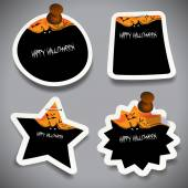 Halloween Tags, Labels or Speech Bubbles Collection — Stok Vektör