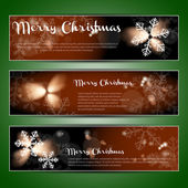 Christmas Header Set — Vetorial Stock