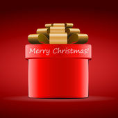 Merry Christmas - Red Gift Box Design for Christmas — Stock Vector