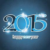 New Year Card - 2015 — Stock Vector