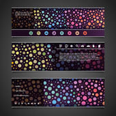 Banner or Header Design with Abstract Colorful Dotted Pattern — Stock Vector