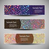 Vetor colorido conjunto de três projetos de cabeçalho — Vetorial Stock