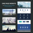 One Page Website Template and Different Header Designs with Blurred Backgrounds — Cтоковый вектор #55081719
