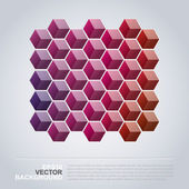 Colorful Cubes - Abstract Background Design — Stock Vector