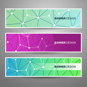 Set of Modern Vector Banners with Colorful Abstract Background — Stockvector