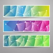 Set of Modern Vector Banners with Colorful Abstract Background — Vetorial Stock