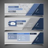 Elementos de diseño web - diseños de encabezado — Vector de stock