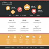 Webbplats mall med platt ui design för ditt företag — Stockvektor