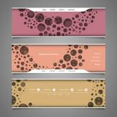 Banner or Header Designs with Abstract Colorful Bubbly Pattern — Stock Vector