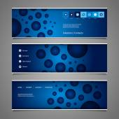 Banner or Header Design with Abstract Colorful Bubbly Pattern — Stock Vector
