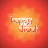 Happy Diwali Card - Vector Background Illustration — Stock Vector