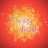 Tarjeta de feliz diwali - vector ilustración de fondo — Vector de stock