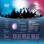 Party Website Template — Stock Vector