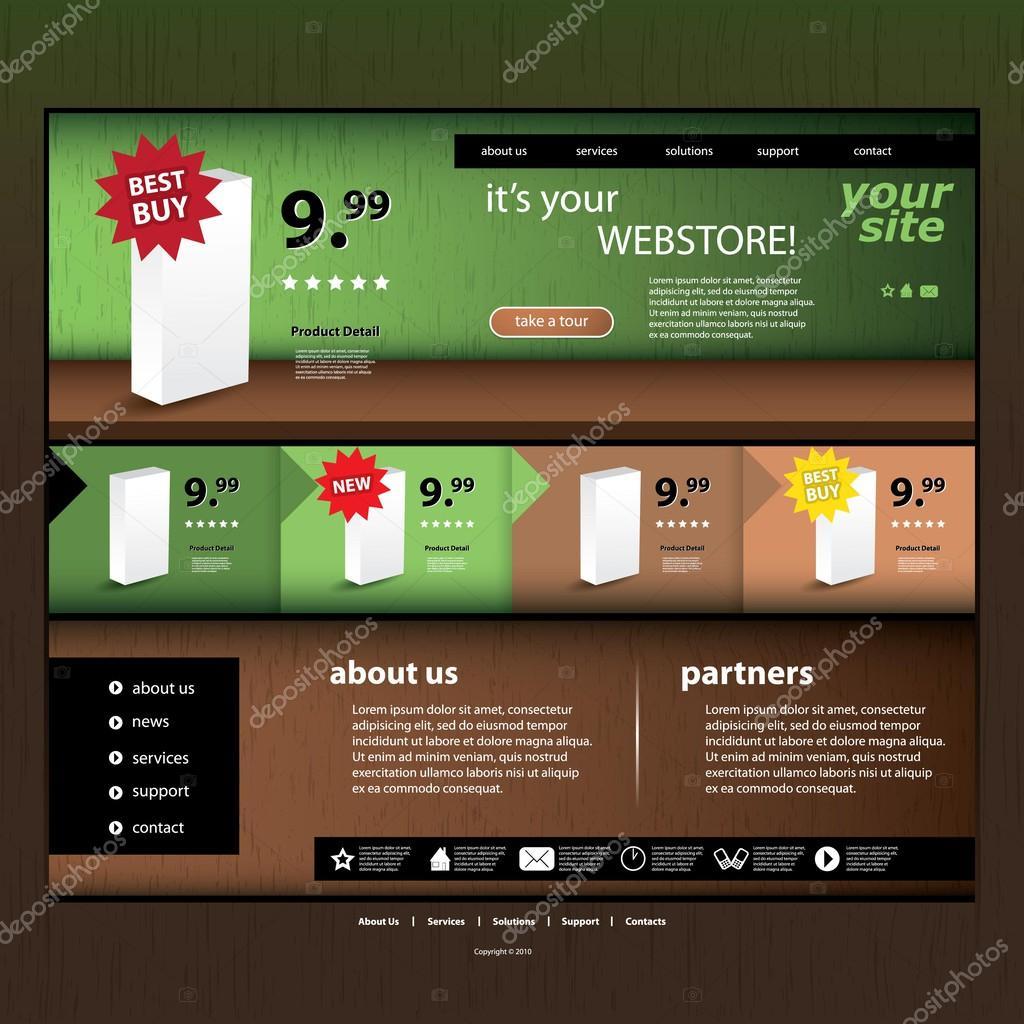 Webstore Template — Stock Vector © bagotaj #56376659