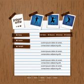 Web サイトのデザイン テンプレート — ストックベクタ