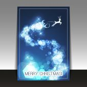 Christmas Card - Flyer or Cover Design Template — ストックベクタ