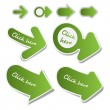 Постер, плакат: Set of 3D Paper Cut Web Link Arrows Clip Art