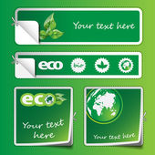 Collection of Eco Labels and Stickers — Vetorial Stock