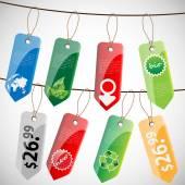 Set of Paper Cardboard Sales Tags — Vetorial Stock