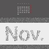 Abstract Dotted Monthly Calendar Design Template in Seasonal Colors - November 2015 — Stock Vector