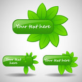 Green Shiny Eco Banners Collection — Stockvector