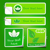 Collection of Eco Labels and Stickers — Stockvector