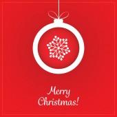 Christmas Greeting Card - Christmas Ball — Stock Vector