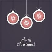 Christmas Greeting Card - Christmas Balls — Stock Vector