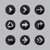 Arrows - Flat Icon Designs — Stockvector