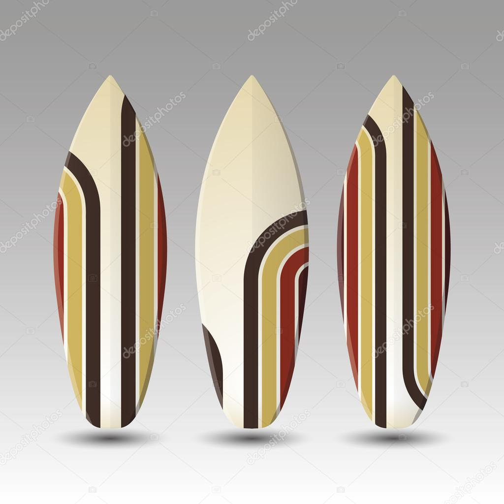 Vector dise o de tablas de surf rayas vector de stock - Disenos de tablas de surf ...